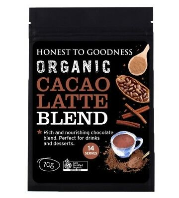 Certified Oganic Cacao Latte Protein blend 70g Natural Vegan GMO Free