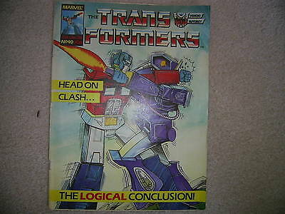 The TRANSFORMERS Comic - No 40, Dec 21st 1985 Marvel comics ,