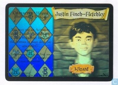 Harry Potter Chamber of Secrets Holo Card *Justin Finch-Fletchley* TCG CCG