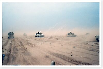 1st Armored Division M-1A1 Abrams Tanks Northern Kuwait Desert Storm 8x12 Photo
