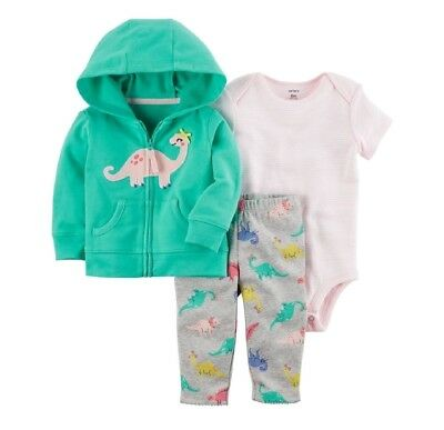 2f6a05f7c8b2 CARTER S BABY GIRL Hooded Short Sleeve Cardigan Bodysuit   Shorts 3 ...