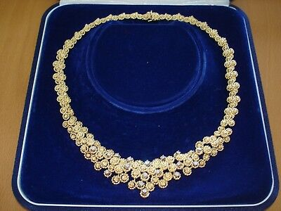 Collier Kette 18K 750 Gold mit Brillanten / Diamanten ca. 1,02ct mit Etui