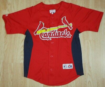 Majestic MATT HOLLIDAY Size Youth Small ST. LOUIS CARDINALS Button Front  JERSEY 3aa9f5d10