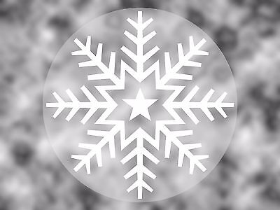 Snowflake Vinyl Stickers 45mm - Window or Wall Decorations - Craft / Christmas