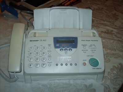 Sharp UX-460 Plain Paper Fax with TAD Works great !