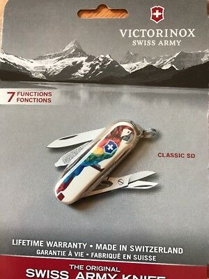 New In Box Victorinox Classic SD LE Swiss Army Knife Parrot Pattern