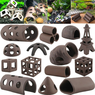 Aquarium Tank Fish Shrimp Breeding Caves Piping Shelter Tube Fish Spawn Ornament