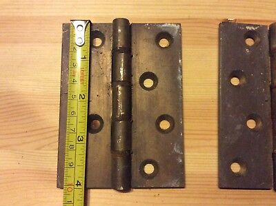 Vintage Cast brass (BUTT HINGES ) ideal for heavy doors  4 inches reclaimed