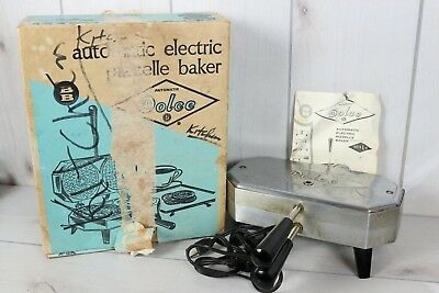 Vintage Dolce Automatic Electric Pizzelle Maker Berarducci Bros Tested and Works