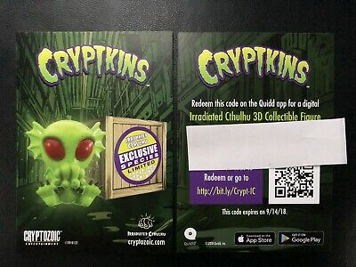 SDCC 2018 EXCLUSIVE Cryptozoic Cryptkins Irradiated Cthulhu Quidd Card