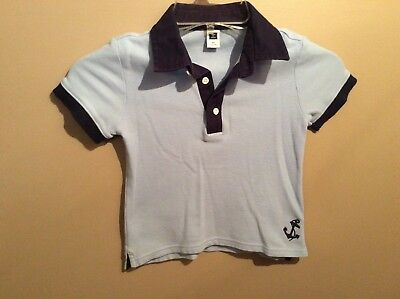 Toddler Boys JANIE and JACK Navy Blue Anchor Nautical Polo Shirt Size 2T