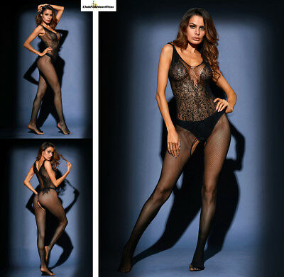 Hot Reizwäsche Fishnet Body Stocking Catsuit Netz Body Unterwäsche |H| 79969-2