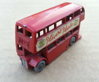 By Lesney 2 No.5 Doppelkdecker Bus Rot Players Please England Vintage  Rarität