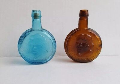 2 vintage Miniature Wheaton President Bottles, James Monroe, Thomas Jefferson