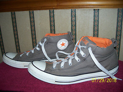 a6000a555765 Converse All Star Chuck Taylor Gray   Orange Basketball Shoes Size 13 Men s