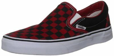 Vans Adult Checkerboard Slip-On Black/Formula One Red Check-Mens 3.5, Womens 5
