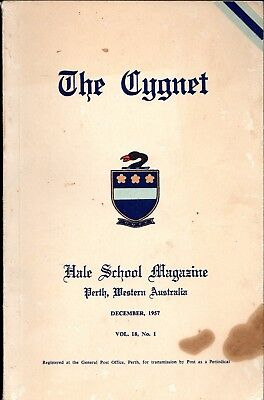 The Cygnet Hale School Magazine College Perth Western Australia Dec 1957 Vintage