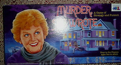 Murder She Wrote Board Game by Warren Company Vintage VGC