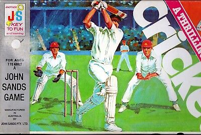 Cricket A Thrilling Activity Game Board Game by John Sands