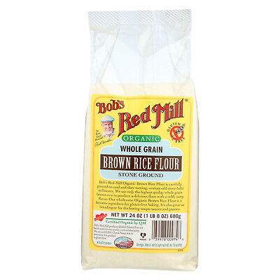 Bob's Red Mill Organic Whole Grain Brown Rice Flour, 24 Ounce (Pack of 4)