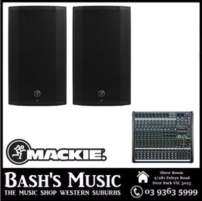 Mackie Thump12A V2 Powered Speaker with PROFX16 Channel Mixer PA System Pack