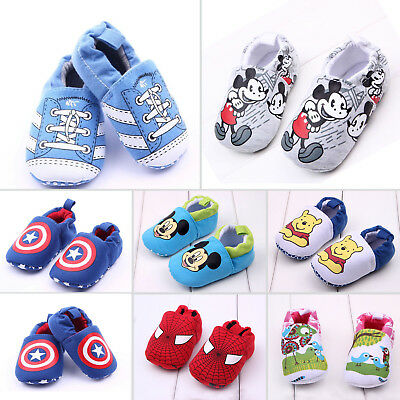Newborn Cartoon Soft Warm Crib Sole Baby Kid Girl Boy Prewalker Pram First Shoes
