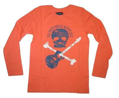 Young Citizen Boys Kids Long Sleeve T-Shirt Top - Orange Size 4 5 6 8 10 12 14