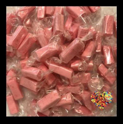 Pink Lollies Wrapped 1Kg Halal And Gluten Free Lollies Strawberry Chews