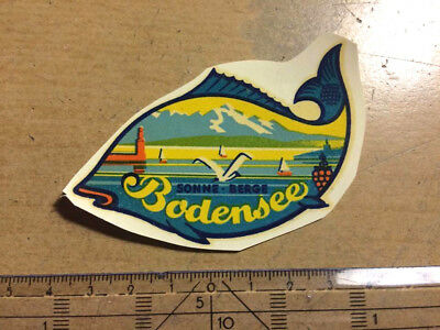 Altes Abziehbild decal Bodensee Oldtimer Roller Scooter VW Vespa Lambretta decal