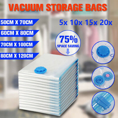Vacuum Storage Bags Space Saver Seal Compressing Small Medium Jumbo Supersize