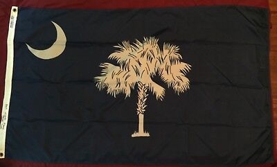 Vintage South Carolina state flag * ANNIN * FLOWN SC CAPITAL * SIGNED BY SC REP