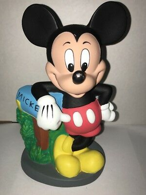 Disney Mickey Mouse Leaning on Mailbox Plastic Bank Vintage