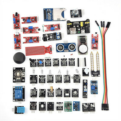45Pcs/set Plastic Sensor Modules Board Kits Electronic Components for Arduino