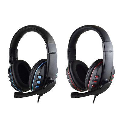 UK 3.5mm Gaming Headset MIC Stereo Headphones for PC Mac Laptop PS4 Xbox One
