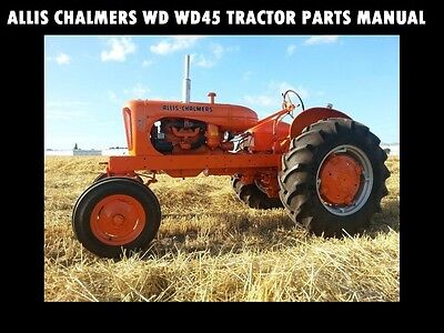 Allis Chalmers Tractor Parts Manual Wd Wd45 Wd45 Diesel 5099
