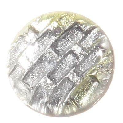"10/16"" Victorian antique Czech foil brick crystal rosette shank art glass button"