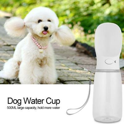Cup Puppy Dog Cat Pet Water Bottle Drinking Travel Outdoor Portable Feeder 500ML