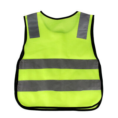Outdoor High Visibility Reflective Strip Vest for Child Student Polyester Fabric
