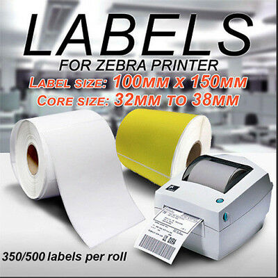 Direct Thermal Shipping 100x150mm Labels for Fastway Startrack Zebra 350/500pcs