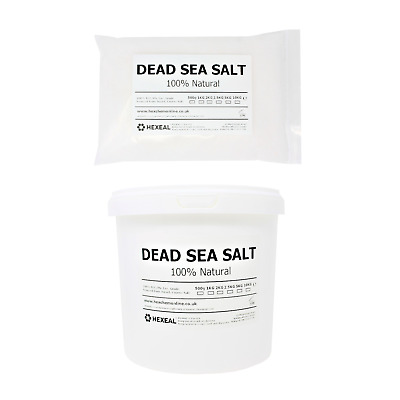 DEAD SEA SALT | 1KG - 25KG Bag or Bucket | 100% Natural | FCC Food Grade