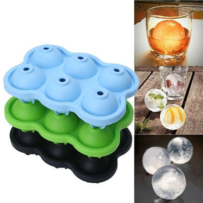 ICE 6 Balls Maker Round Sphere Tray Mold Cube Whiskey Ball Cocktails Silicone