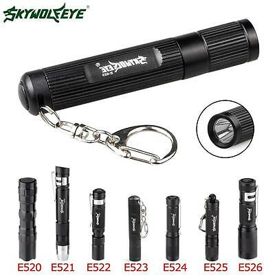 Mini 3W DMD Flashlight Medical Pen Light Small Torch Lamp Portable Keychain TR