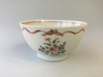 18th/19th C. Chinese Famille Rose Tea Bowl - Export Porcelain