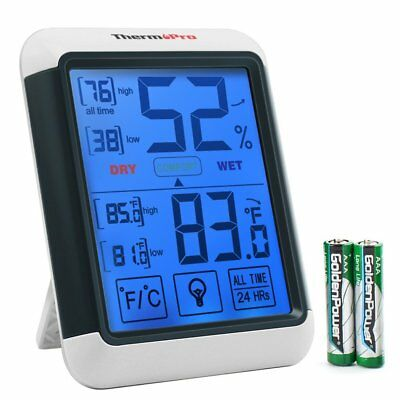 ThermoPro TP55 Digital Hygrometer, Humidity Gauge with Jumbo Touchscreen