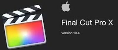 Final Cut Pro X  Latest Version - SAME DAY DELIVERY - High Sierra 360 VR FCP