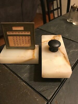 Vintage Ink Blotter And Calendar