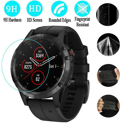 3x 9H Transparent Clear Screen Protection HD Film For Garmin Fenix 5 5S 5X Plus