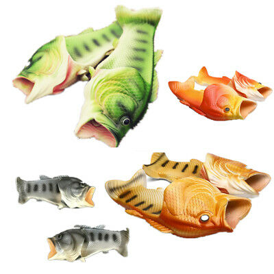 Fish Flops Slippers Funny Beach Shoes Bling Flip Thongs Sandals Pluggers^