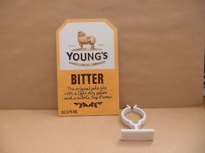 YOUNGS  BITTER   Beer Pump Clip Pub Bar Collectible NEW MAN CAVE