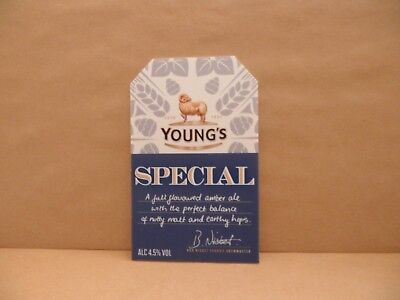 YOUNGS SPECIAL Beer Pump Clip Pub Bar Collectible NEW MAN CAVE